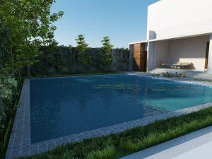 konstruksi kolam renang di bungur